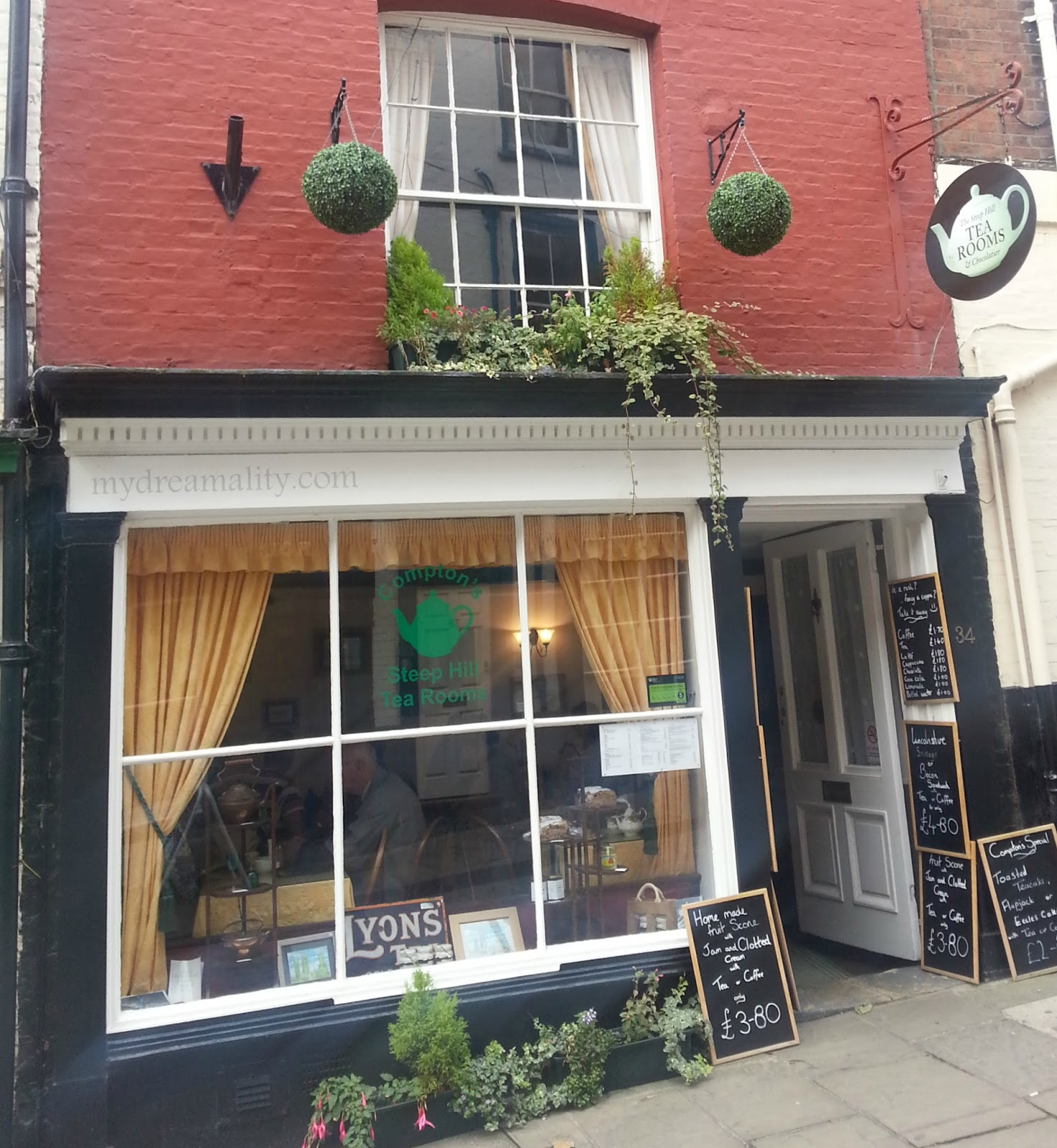 Compton's Steep Hill Tea Room in Lincoln