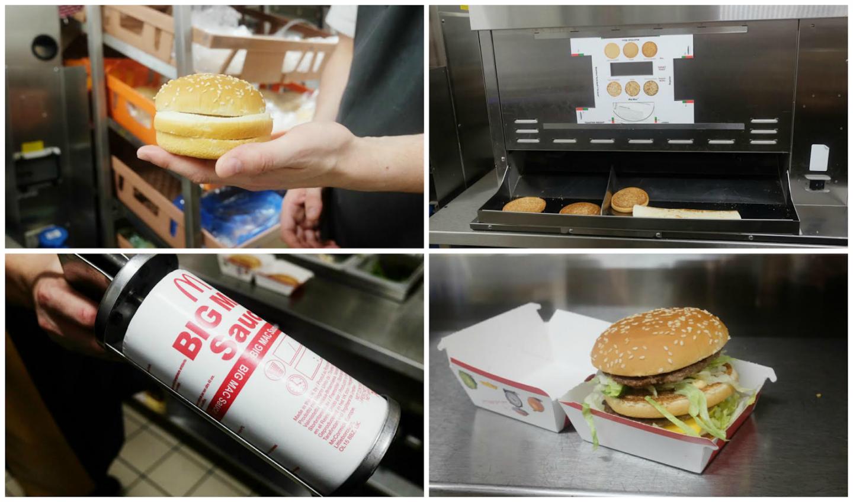 McDonald's Restaurant: Me making a Big Mac!