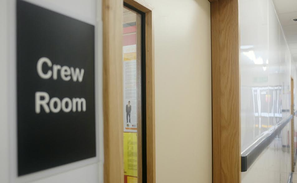 McDonald's Restaurant: Door to Crew Room