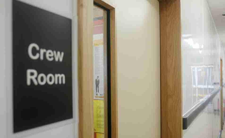 McDonald's Restaurant: Door to Crew Room