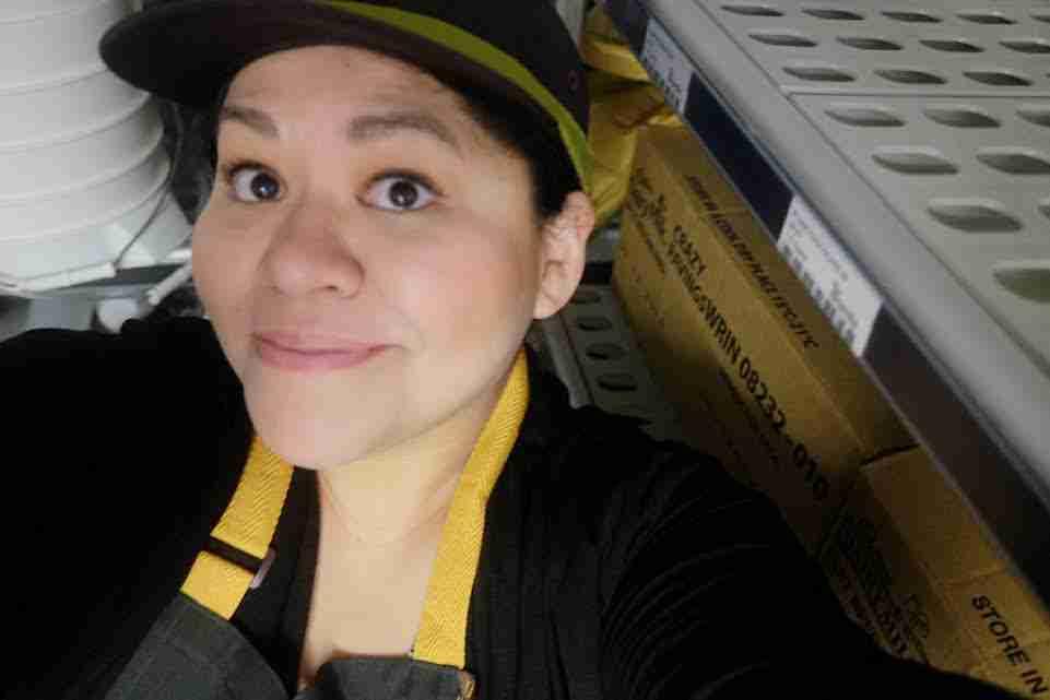 McDonald's Restaurant: My selfie in the uniform!