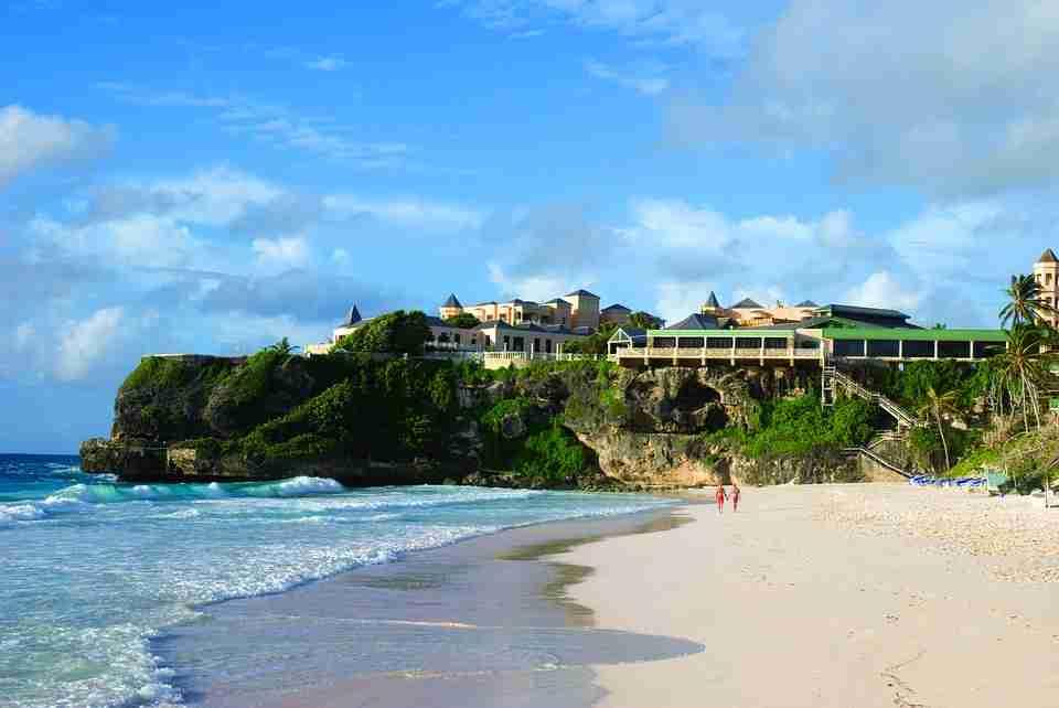 Secluded beach: Caribbean islands