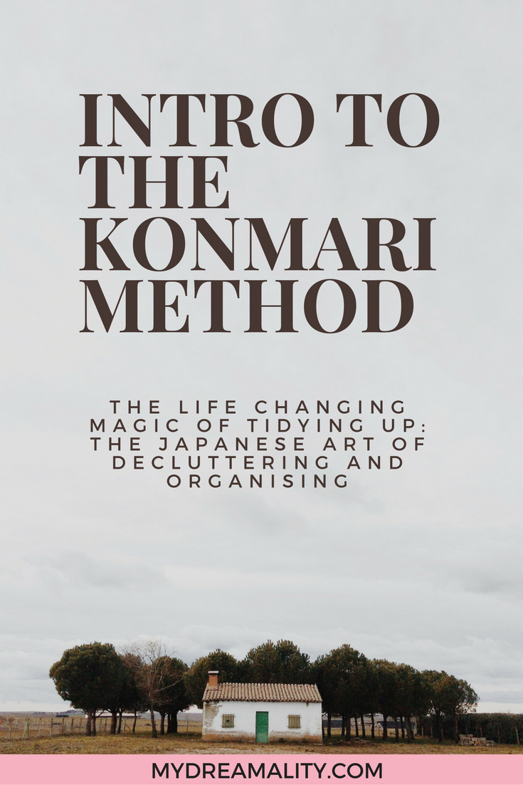 Intro to the KonMari method graphic.