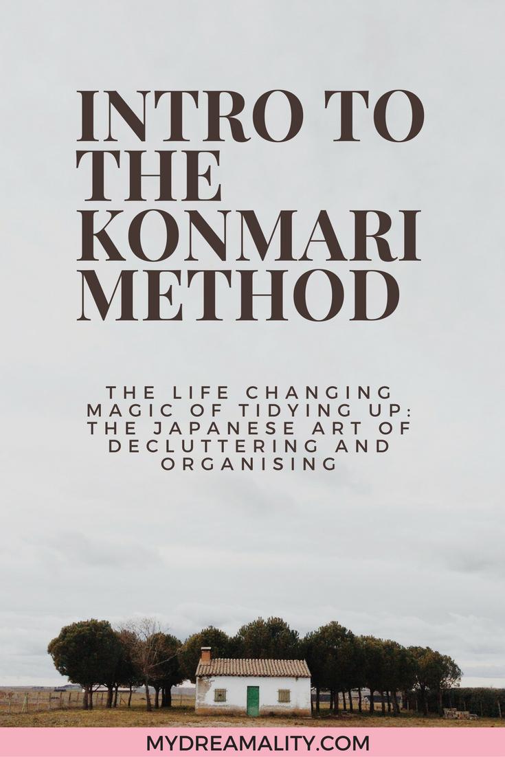 Intro to the KonMari method graphic.