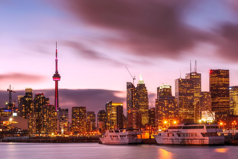 image of Toronto , Canada at dusk