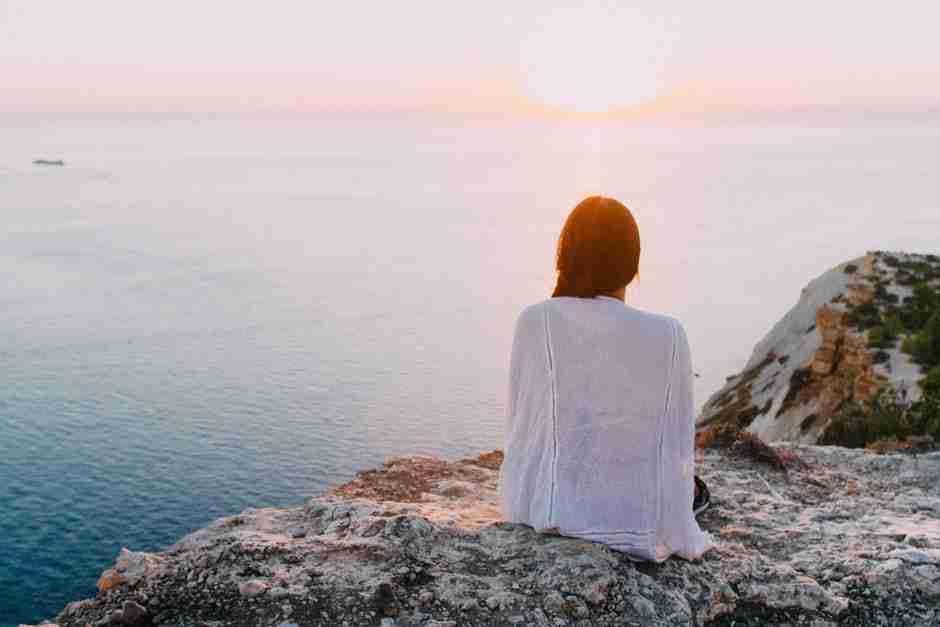 mental health, peace, ocean, woman, relax, meditation