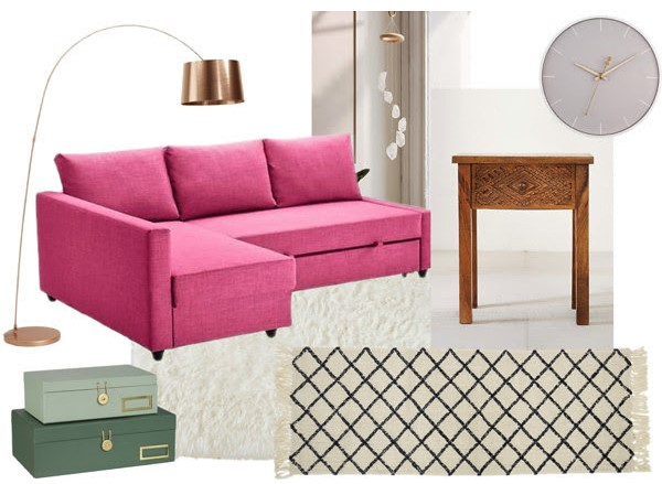 3 Ways to Style a Pink Sofa