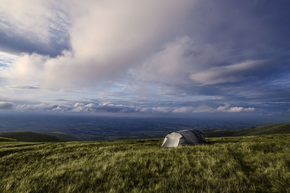 best cars for camping: open field