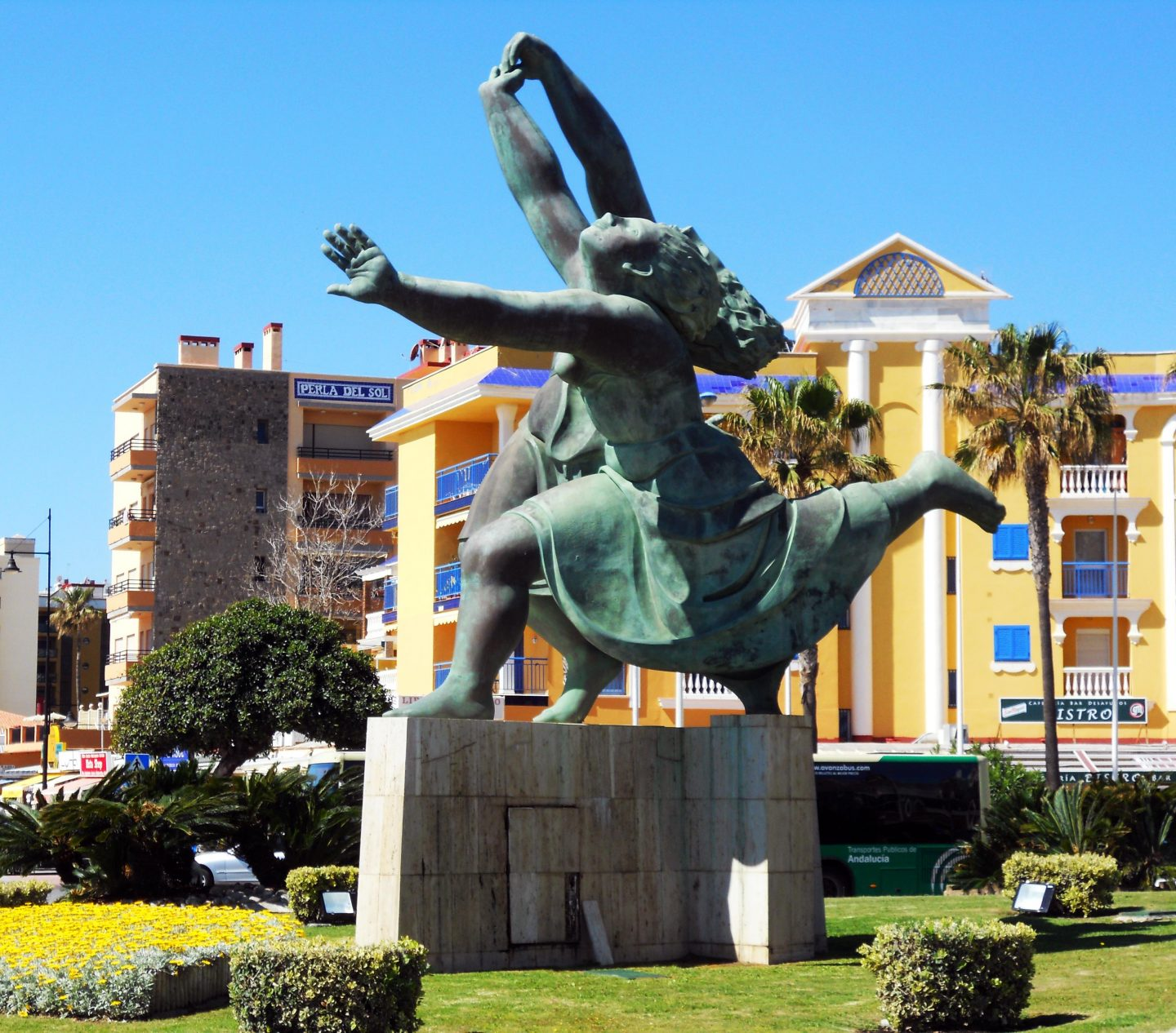 The Three Dancers sculpture in Torremolinos, Spain