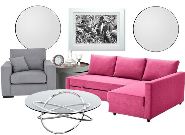 style a pink sofa