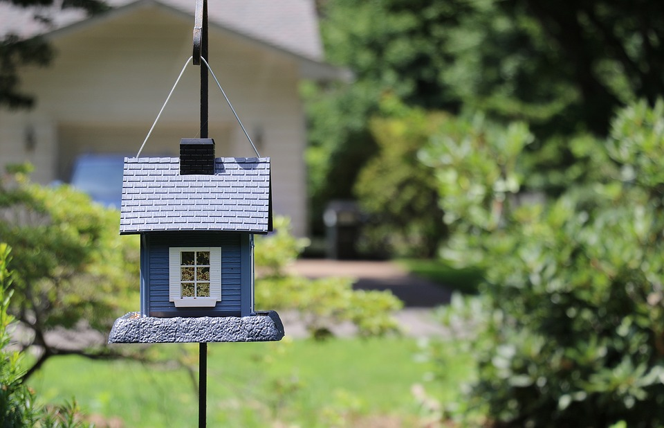 increase your living space: birdhouse in garden.