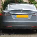 considering an electric car: Grey Tesla