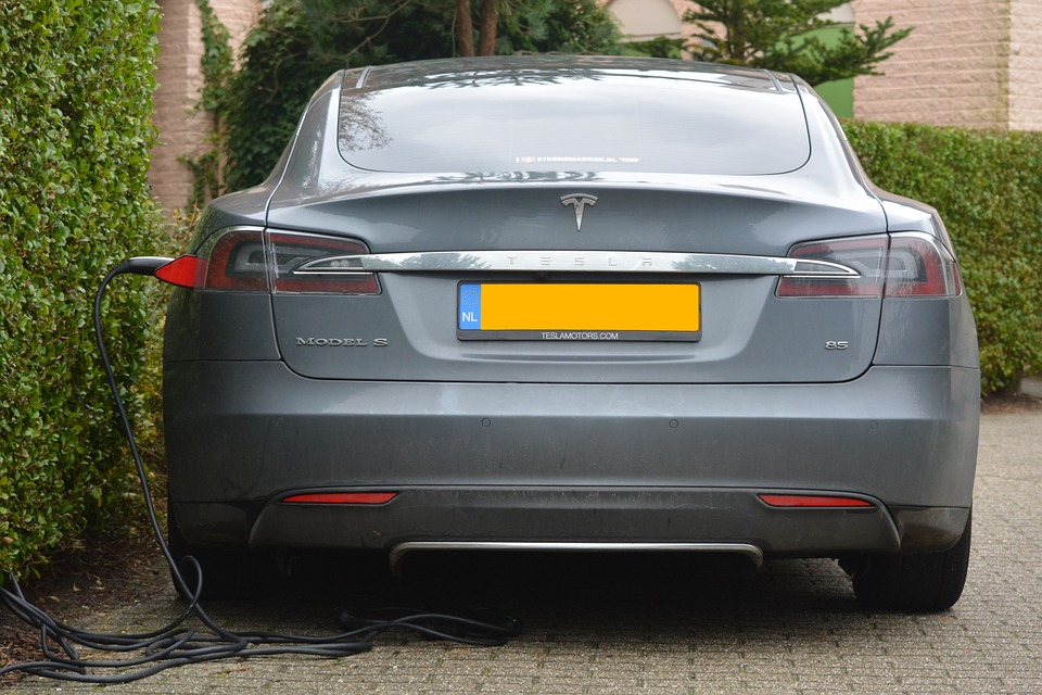 considering an electric car: Grey Tesla