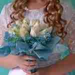 favourite wedding theme: bride holding flowers.