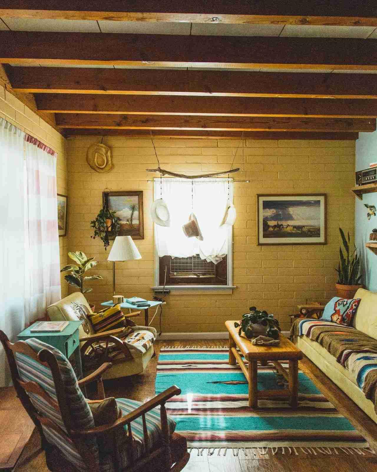 Bohemian look: Living room