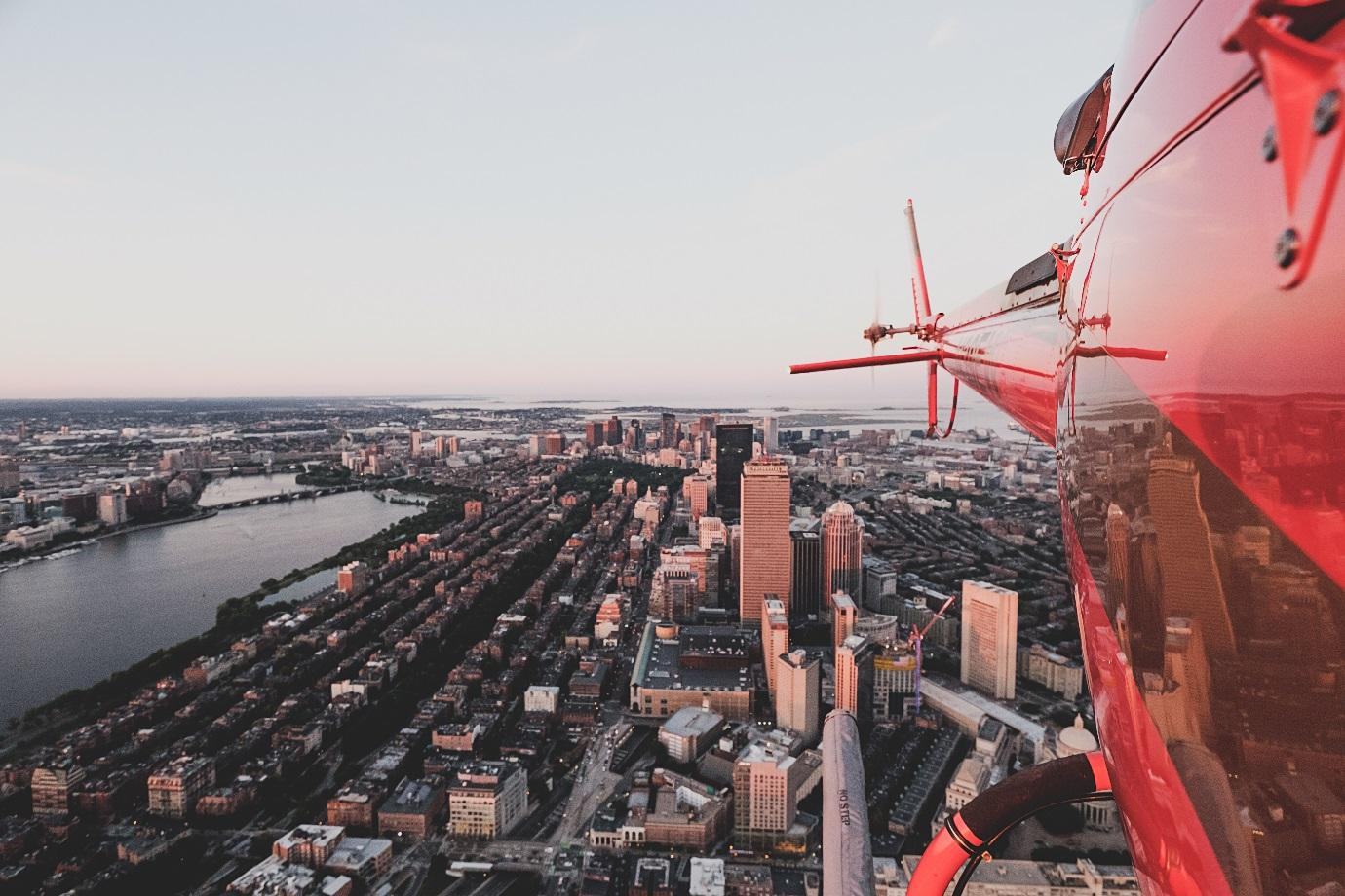 photography from a helicopter