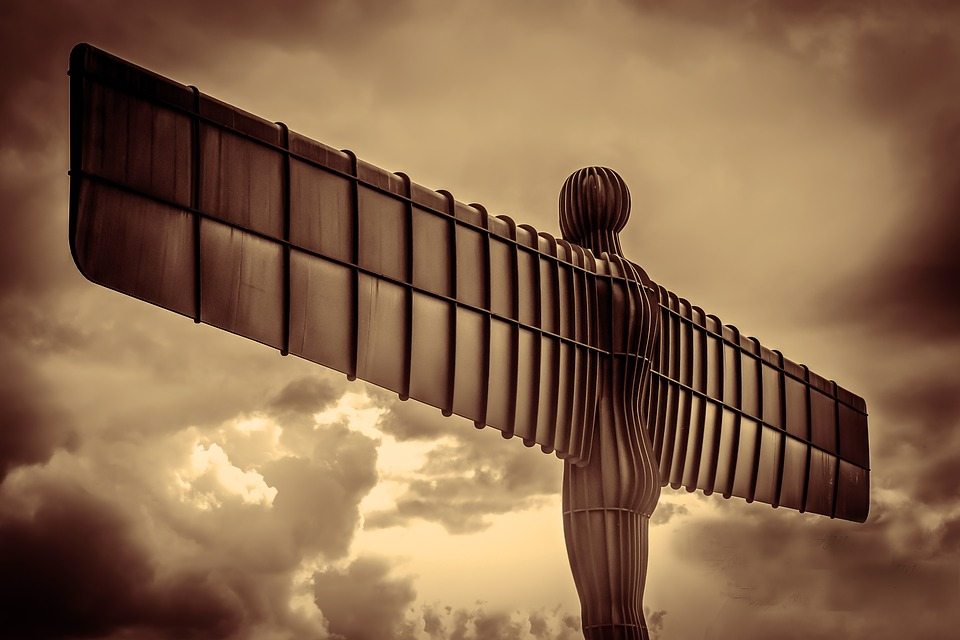 Angel of the North: unusual locations in Britain.