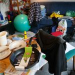 death cleaning: messy room.