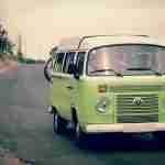 Volkswagon camper van in Green: iconic vans