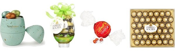 Variety of chocolates.