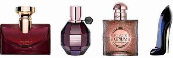 Miniature perfume bottles: Easter gift ideas.