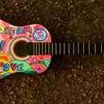 Weekends: Multi coloured guitar
