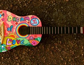 Weekends: Multi coloured guitar