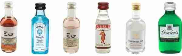 Miniature spirit bottles: Easter gift ideas