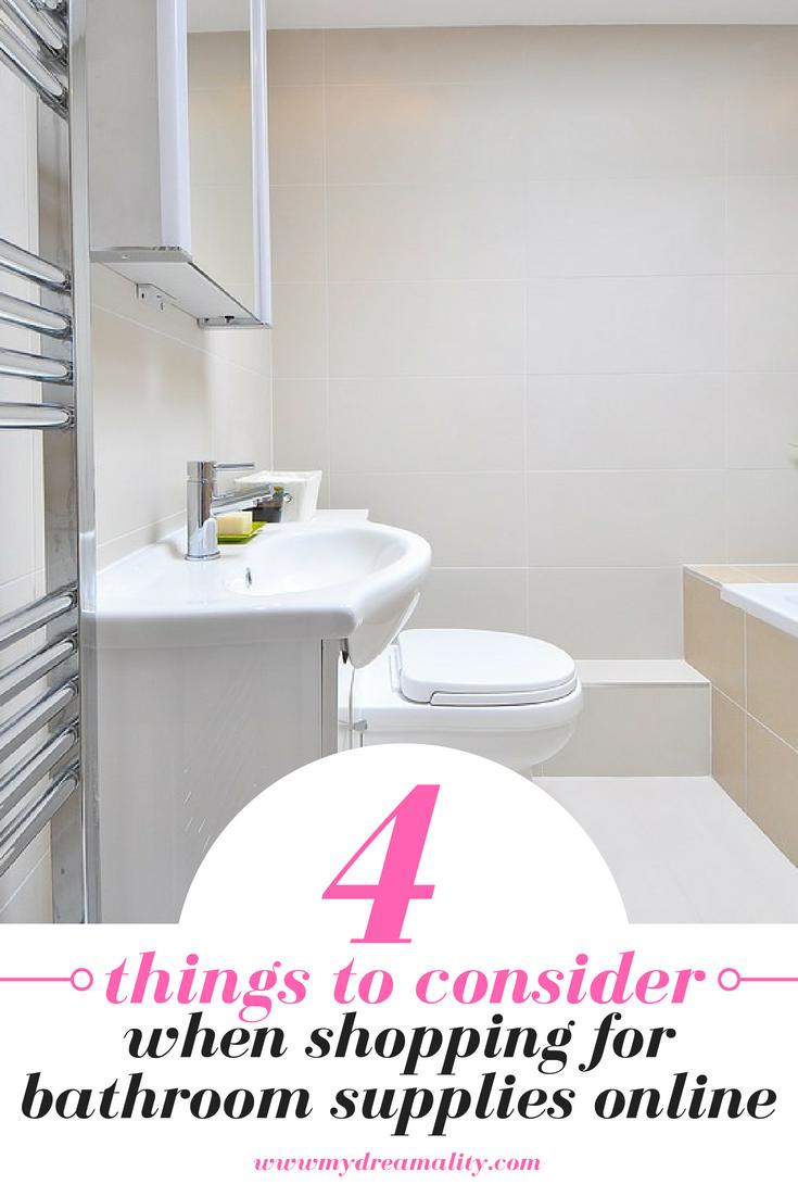 bathroom supplies: Pinterest graphic