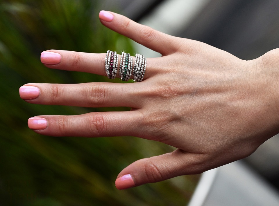 Pandora rings on lady's finger