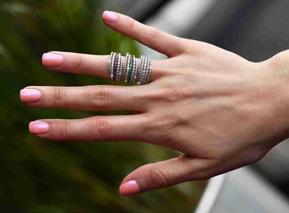 Pandora rings on lady's finger