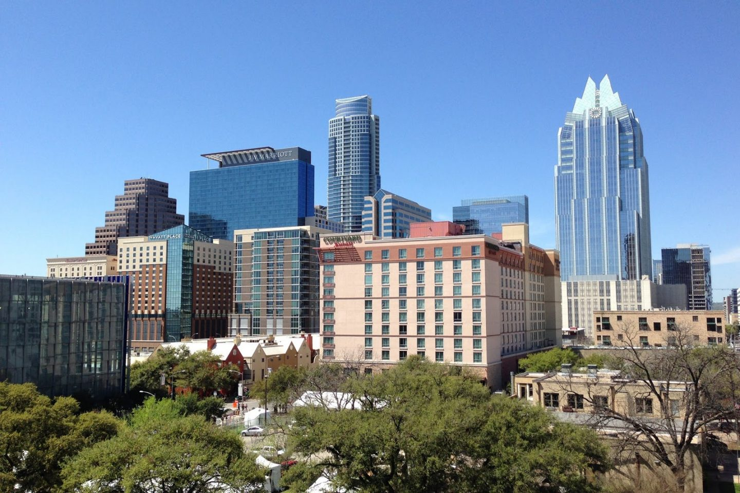 Texas cities: Austin downtown skyline