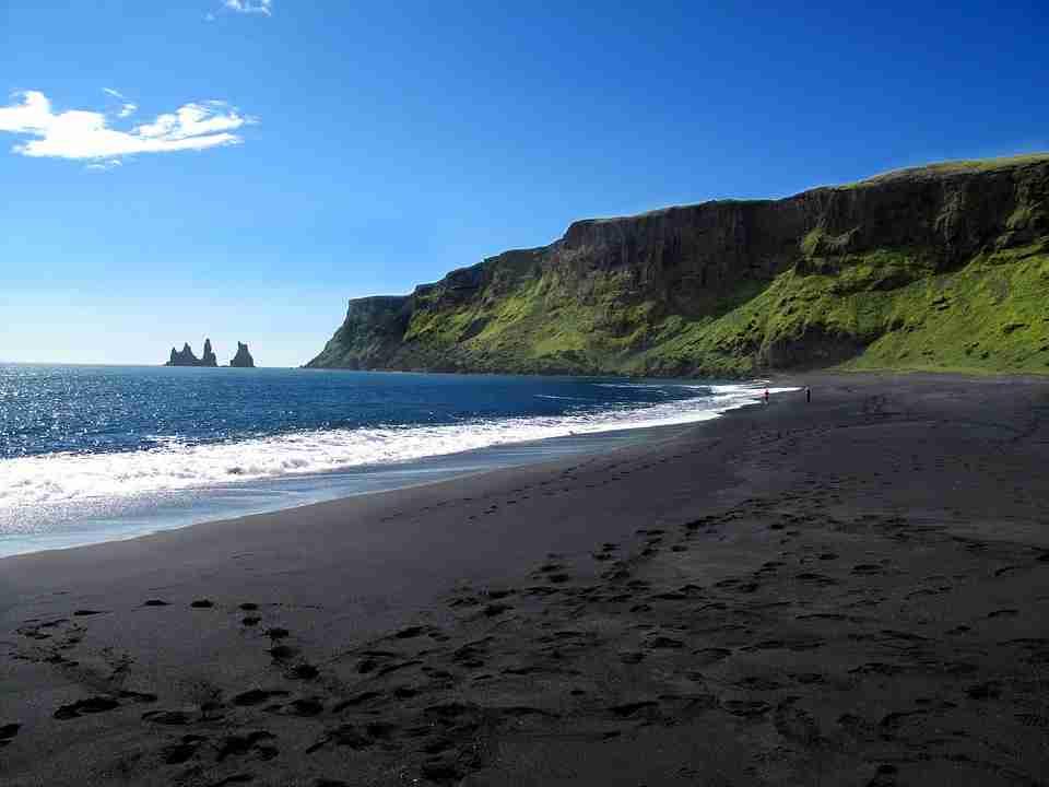 visit Iceland: black sand beach