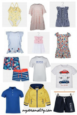 Children's Fashion: collection of items.