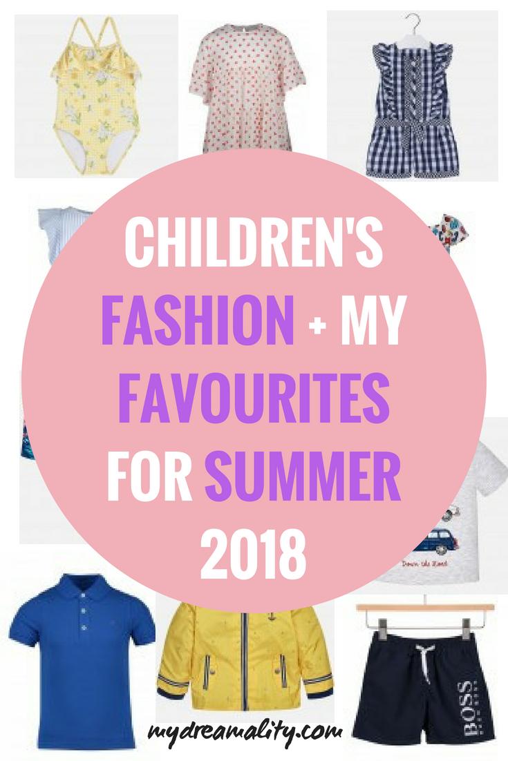 Children's Fashion: Pinterest graphic