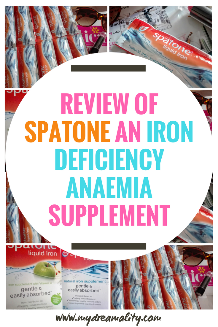 Spatone iron deficiency anaemia: Pinterest graphic