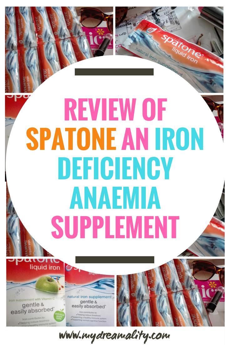 Spatone iron deficiency anaemia: Pinterest graphic