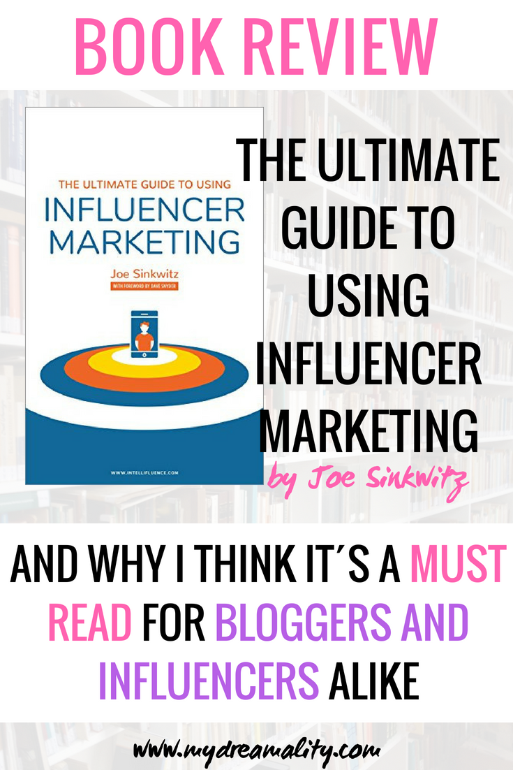 influencer marketing: Book review pinterest graphic