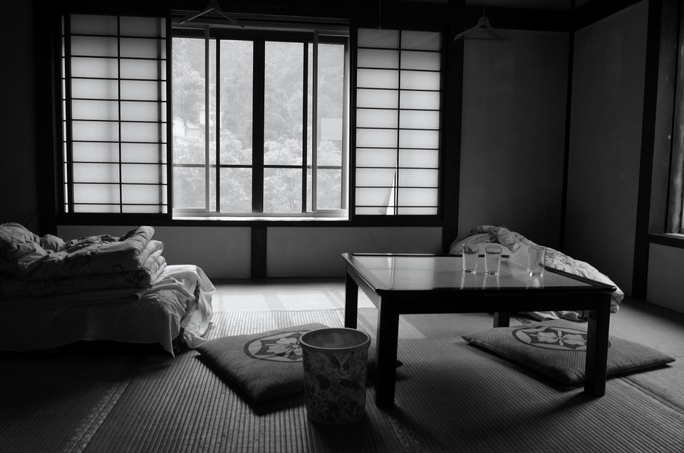 Rooms with large tatami mat