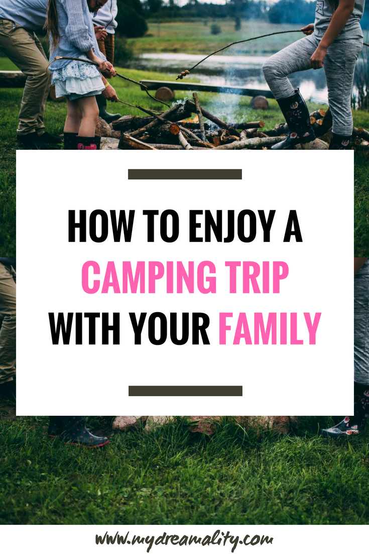 camping with your family pinterest graphic.