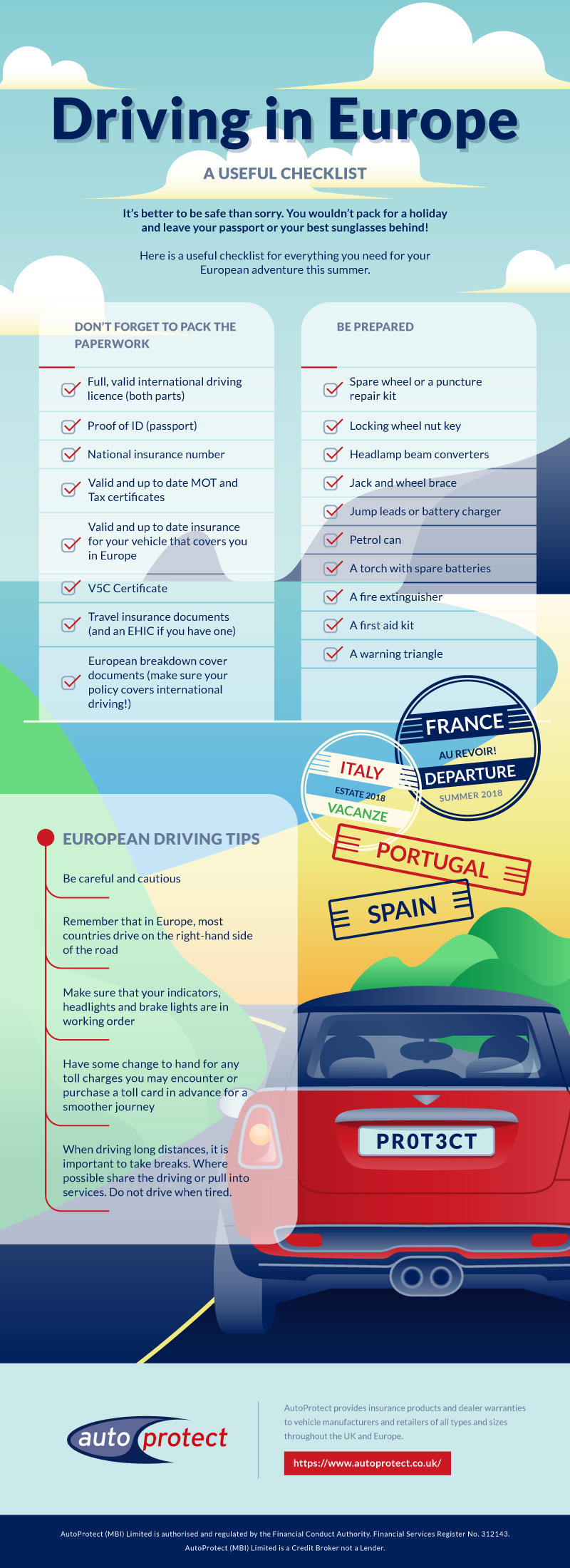 safe road trip infographic
