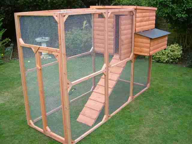 dream garden: wooden playhouse.