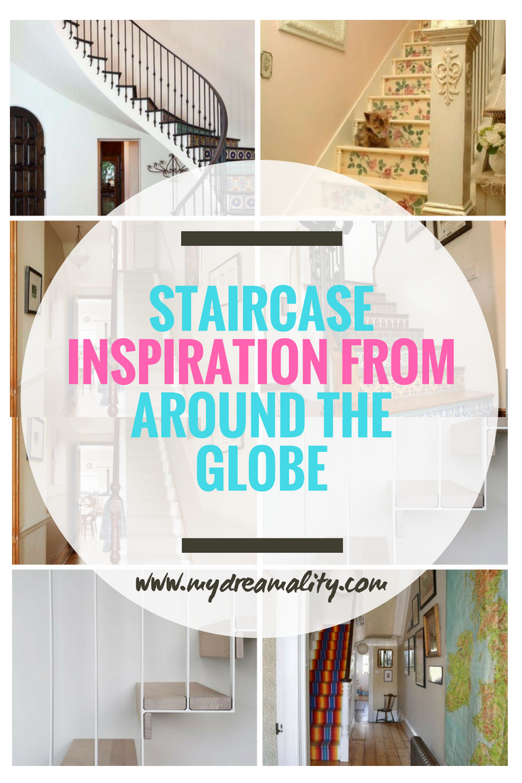 staircase inspiration post graphic for pinterest.