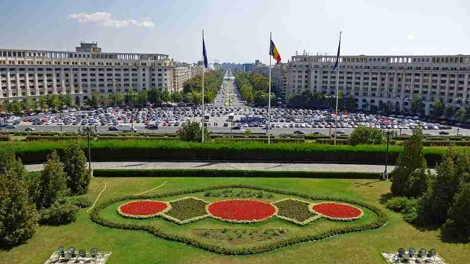European travel: Romanian parliament