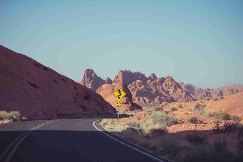 Winding mountain road in Australia's northern territory.