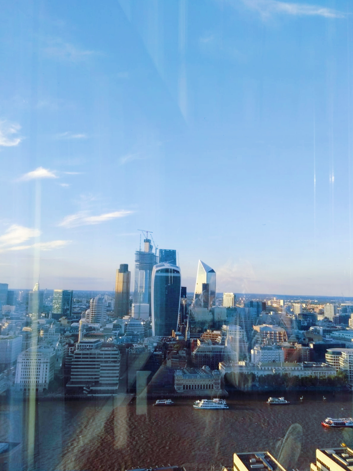 View of the Thames from the Shard near London Bridge