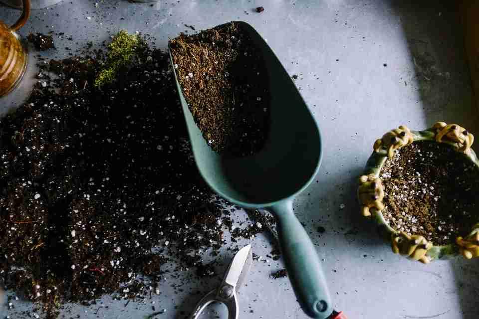 air pollution: soil and spade
