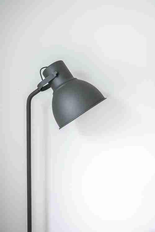 Grey metal decor lamp