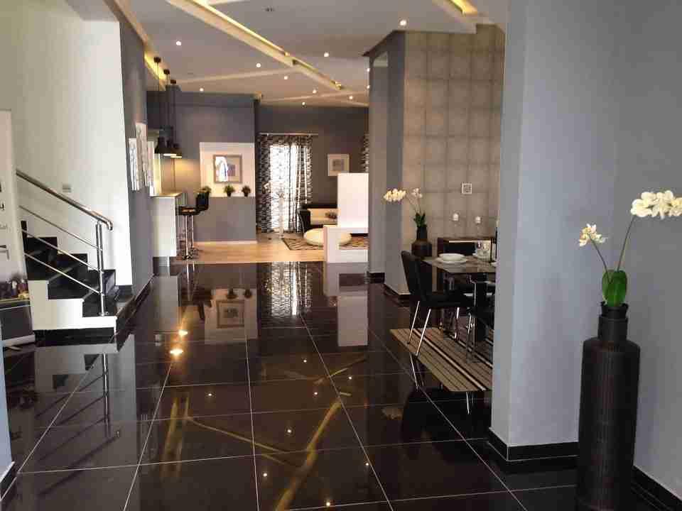 contemporary style: sleek, modern home.