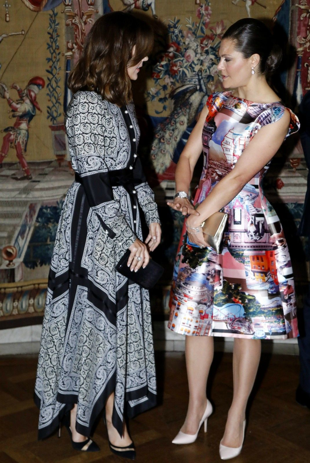 royal fashionista: Kate and the Queen of Sweden.